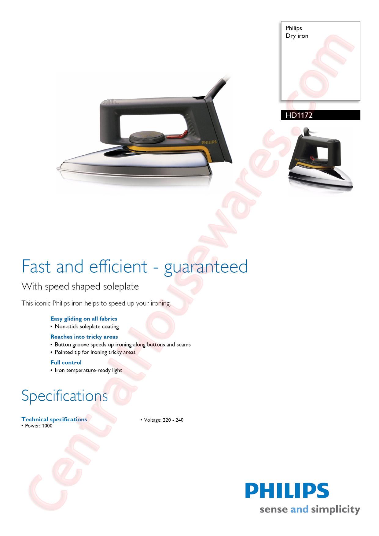Philips Setrika Dry Hd1172 Hitamkuning5 Daftar Harga Terbaru Dan Hd 1172 Hitam Product Code Description