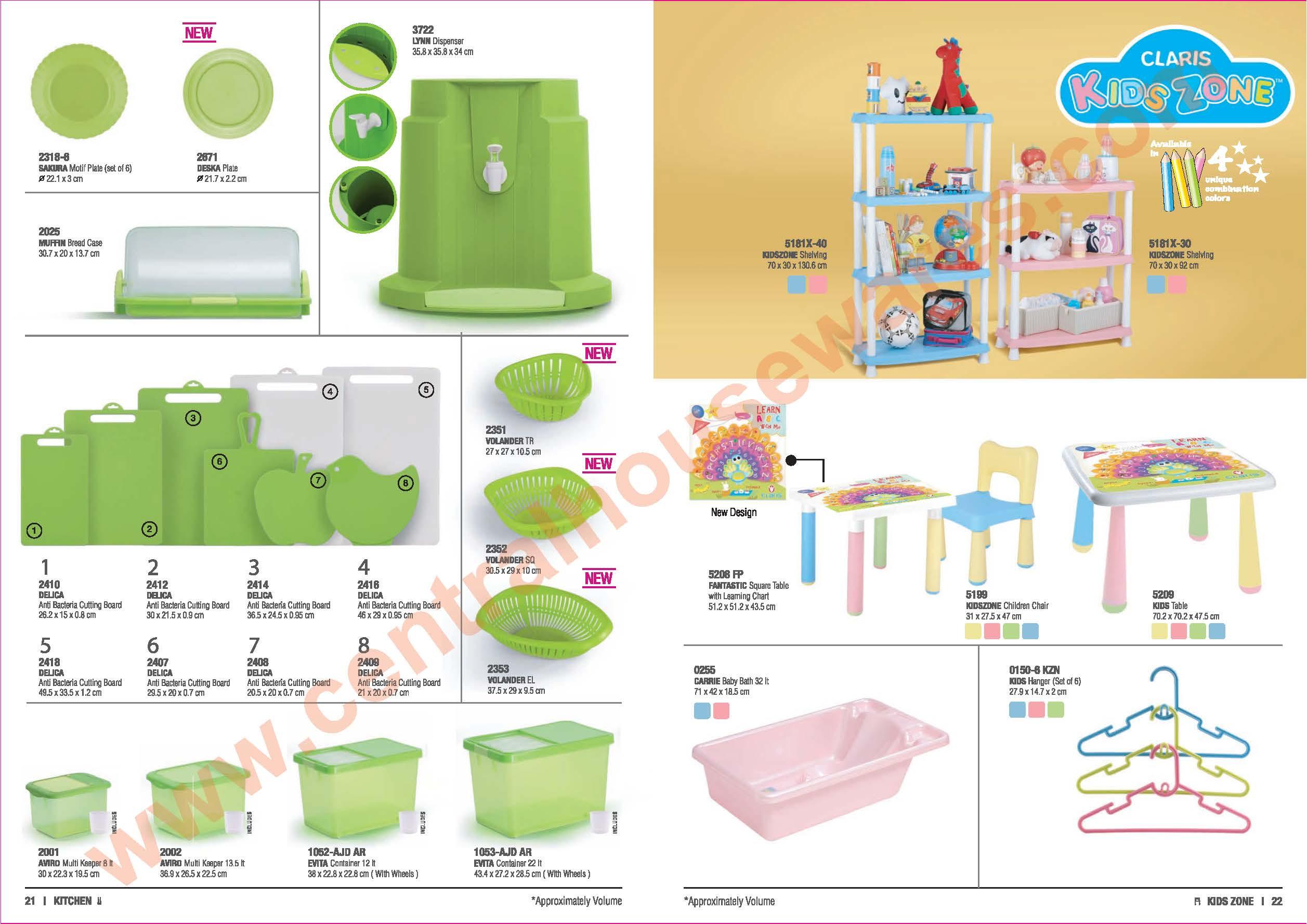 Claris Plastic Keranjang Nampan Kecil 0560